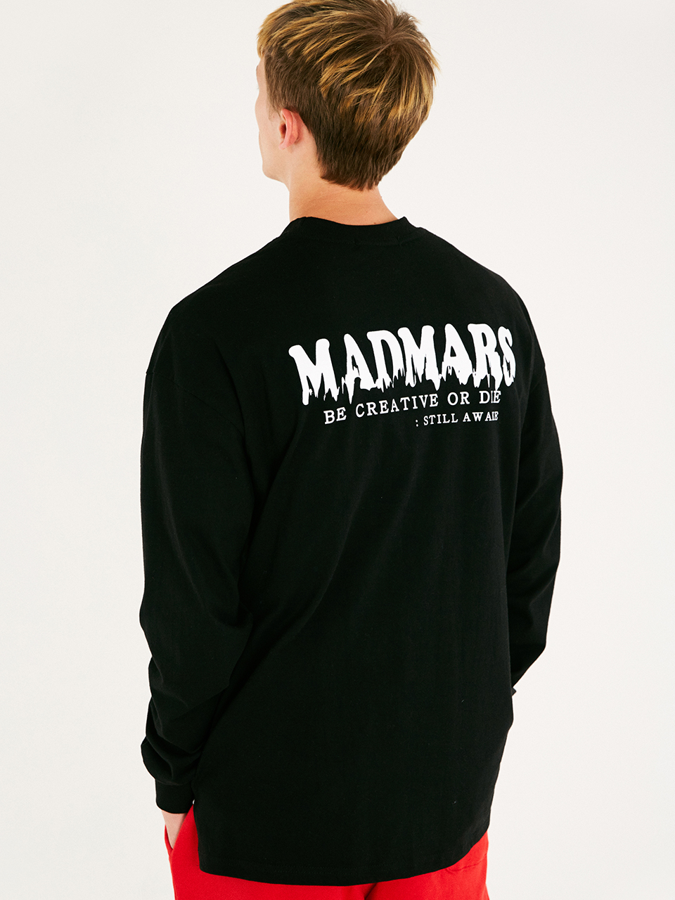 [매드마르스]DRIP LOGO LONG SLEEVE SHIRTCS_BLACK