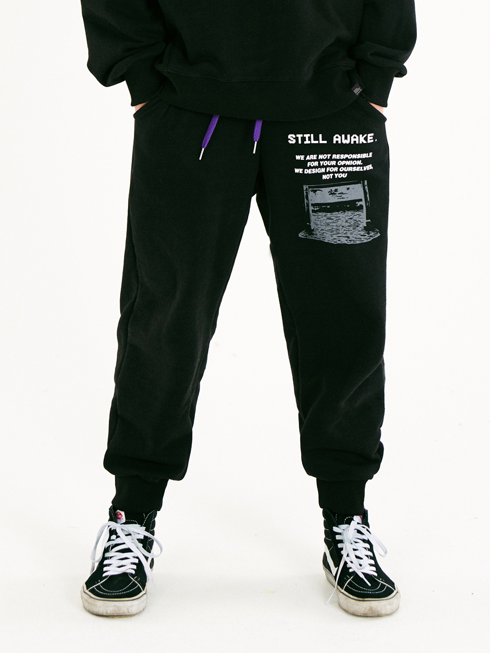 [매드마르스]RECORDED JOGGER PANTS_BLACK