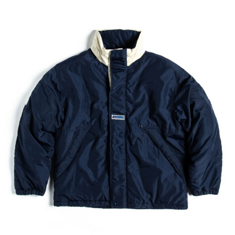 [RUSSELL ATHLETIC] NYLON PUFFER JACKET - NAVYxCREAM