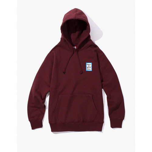 [Have a good time] MINI BLUE FRAME PULLOVER HOODIE - WINE