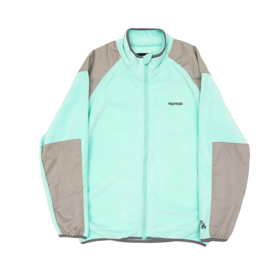 [yeseyesee] FLEECE ZIP UP AQUA
