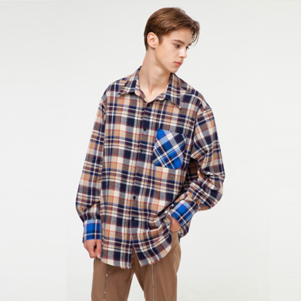 [THE GREATEST] GT18FW02 CHECK SHIRT