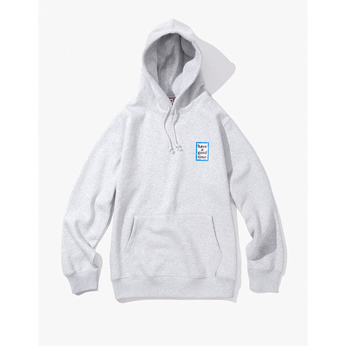 [Have a good time] MINI BLUE FRAME PULLOVER HOODIE - HEATHER GREY