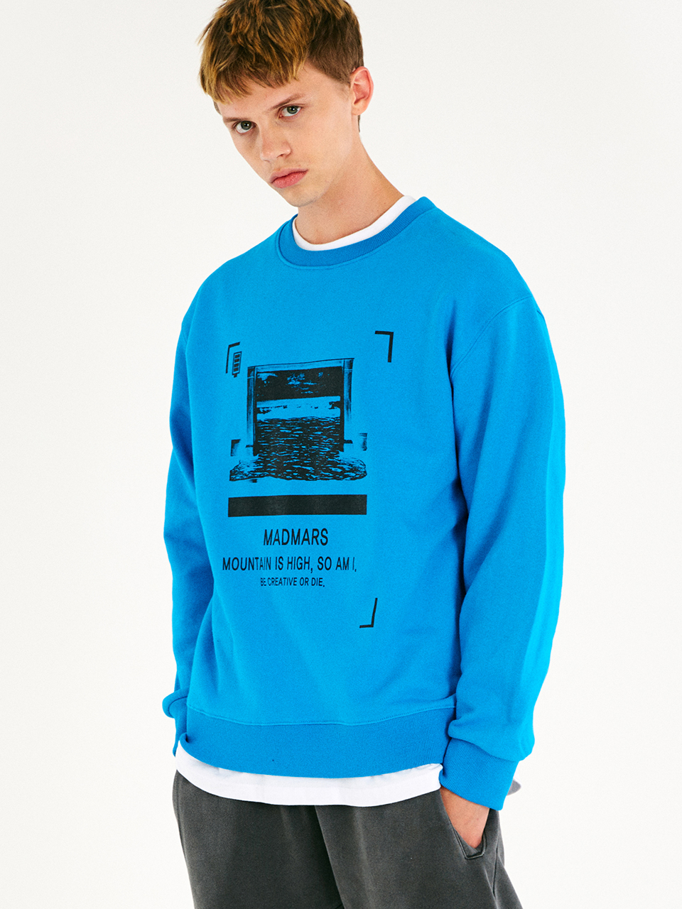 [매드마르스]RECORDED SWEATSHIRT_AQUABLUE