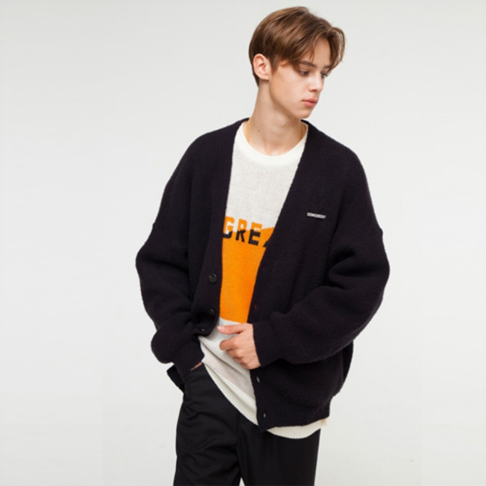 [THE GREATEST] GT18FW05 PENDANT CARDIGAN BLACK