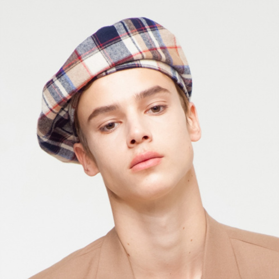 [THE GREATEST] GT18FW15 CHECK BERET