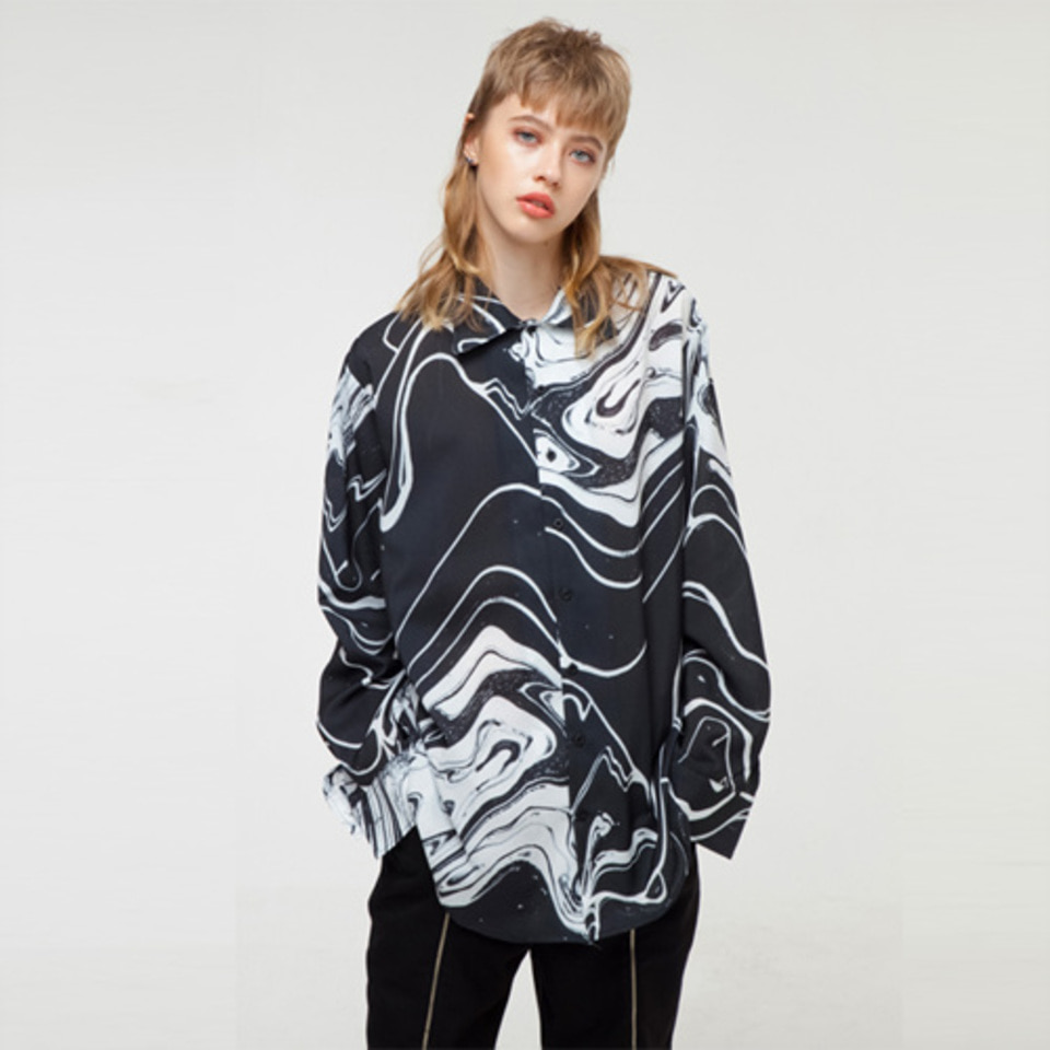[THE GREATEST] GT18FW03 MARBLING SHIRT