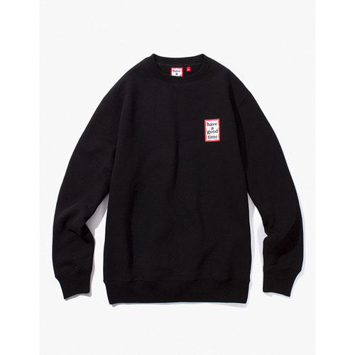 [Have a good time] MINI FRAME CREWNECK - BLACK