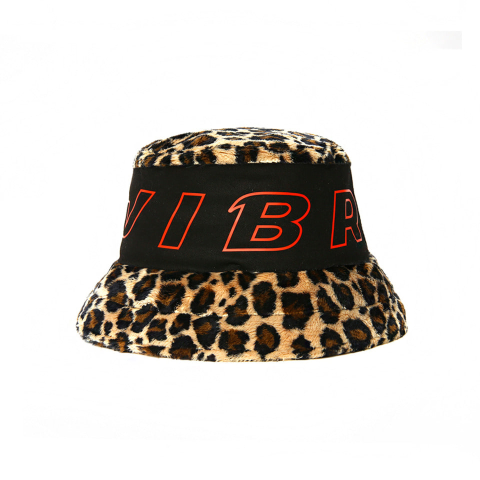 [VIBRATE] - STROKE LOGO POINT LEOPARD BUCKET HAT [예약발송] 10월 19일 입고예정