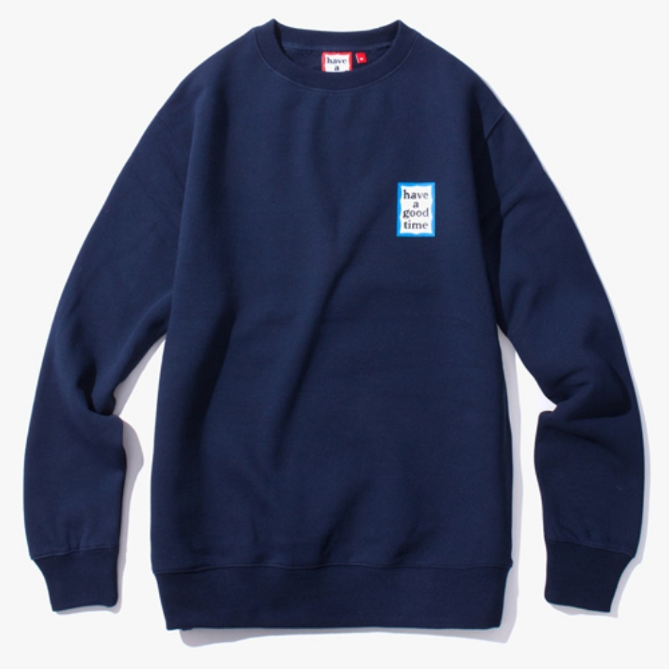 [Have a good time] MINI BLUE FRAME CREWNECK - NAVY