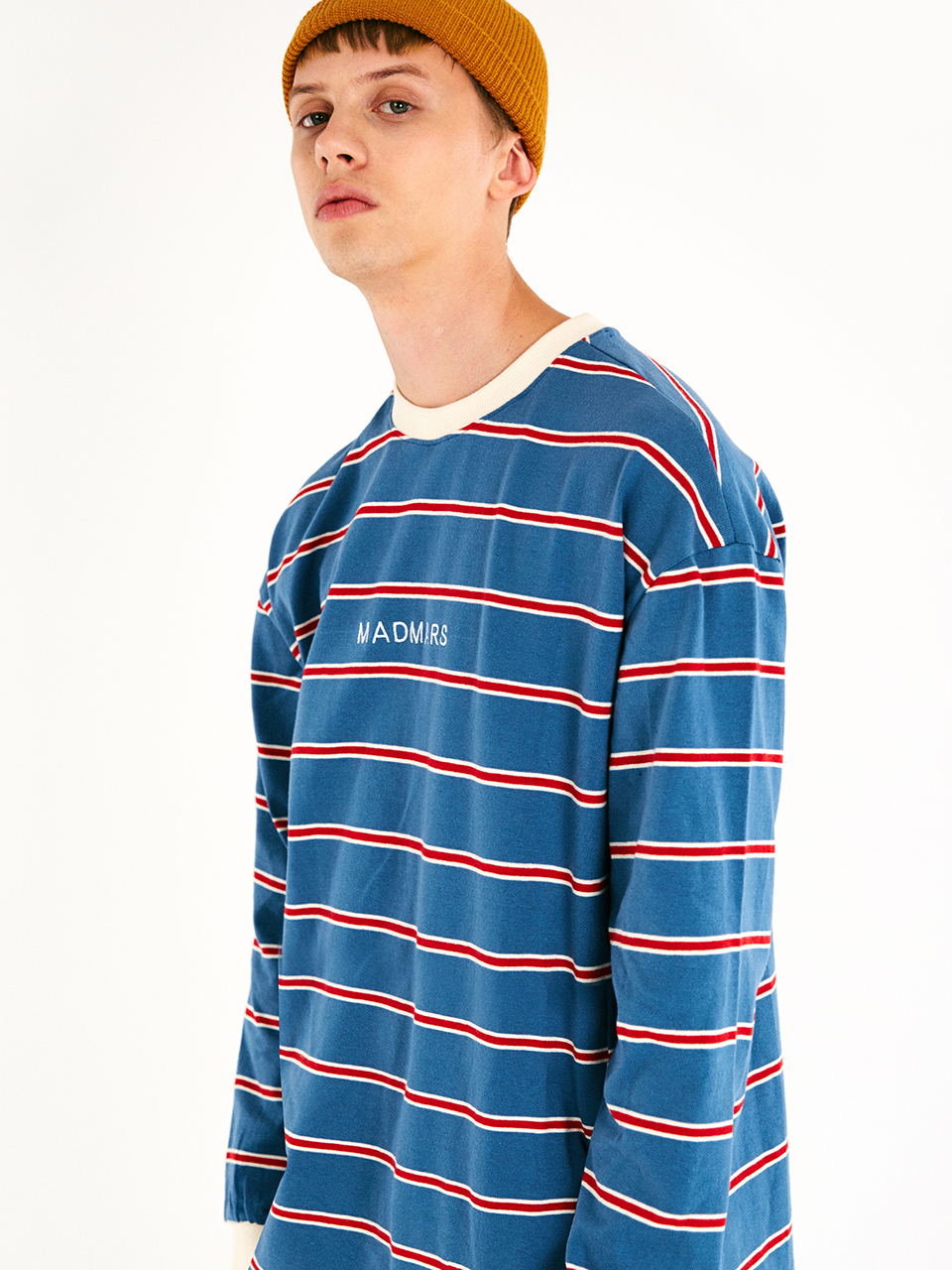[매드마르스]DOUBLE LINE LONGSLEEVE T-SHIRT_BLUE