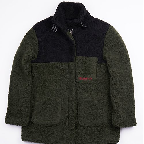 [WANTON] BUCKLE HEAVY FLEECE KHAKI