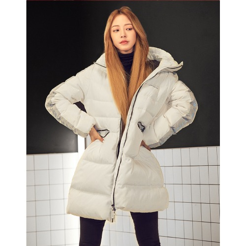 [VIBRATE] SCOTCH LINE DUCKDOWN JACKET(WHITE)