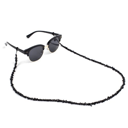[AGINGCCC]328# BLACK TOURMALINE EYEGLASS CHAIN