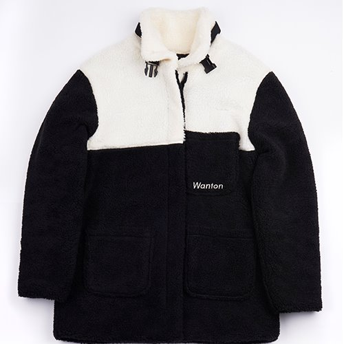[WANTON] BUCKLE HEAVY FLEECE BLACK