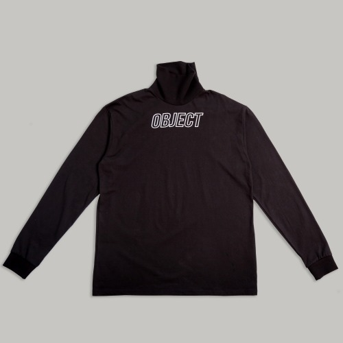 [OBJECT] OBJECT LOGO TURTLENECK - BLACK