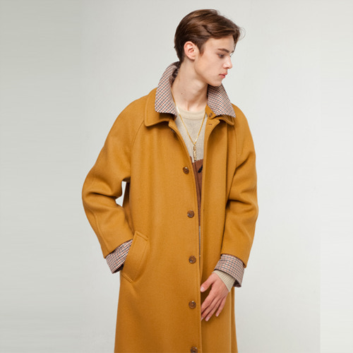 [THEGREATEST] GT18FW09 CHECK WOOL COAT