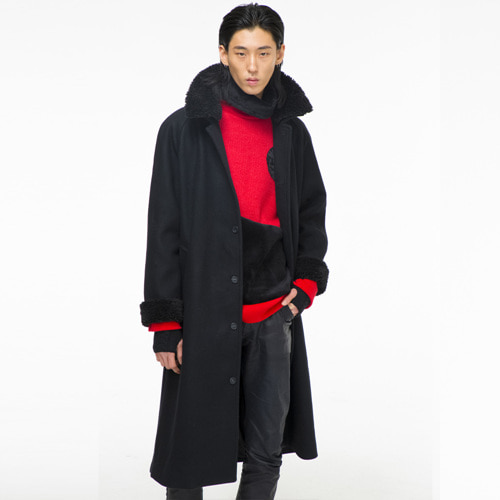 [THEGREATEST] GT1819W 05 WOOL Coat BLACK (black)
