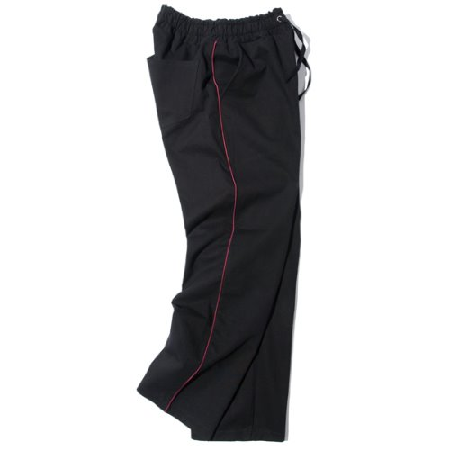 [KRUCHI] Piping Easy Pants (black)