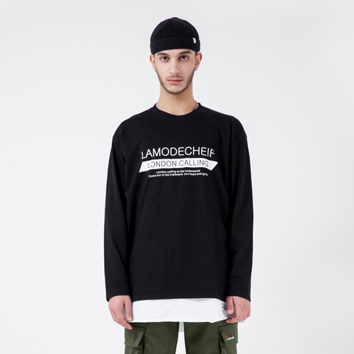 [LAMODECHIEF] LAMC MULTI WRITING LONG SLEEVE (BLACK)