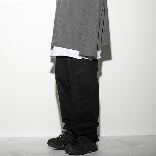 [FLAREUP] String wide pants (FU-212_BK) - black