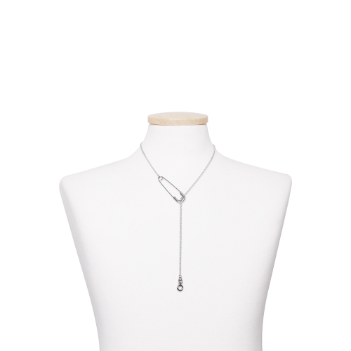 [TWENTYONEAUGUST]SAFETYPIN ZIPPER NECKLACE - SILVER