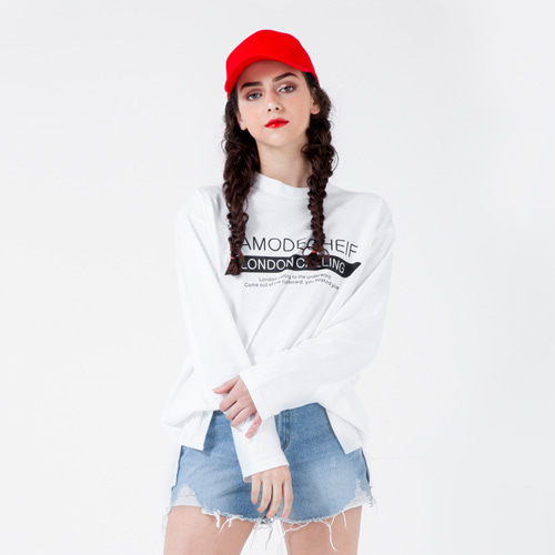 [LAMODECHIEF] LAMC MULTI WRITING LONG SLEEVE (WHITE)