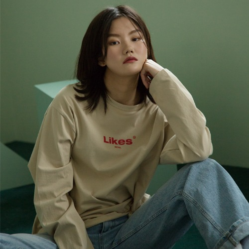 [UNLIKELOOK] LIKES LONG SLEEVE TEE (BEIGE)