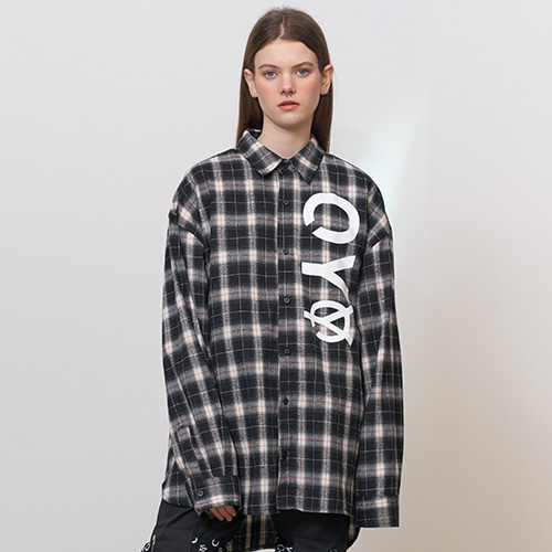 [OY] LOGO CHECK SHIRTS - BK