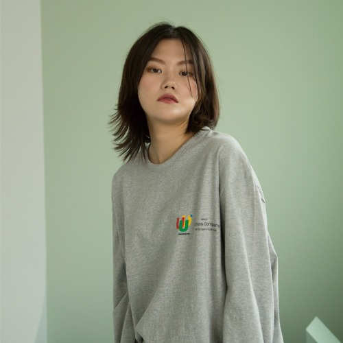 [UNLIKELOOK] U.U.U LONG SLEEVE TEE(GRAY)