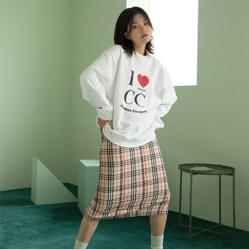 [UNLIKELOOK] C.C SWEAT SHIRT (WHITE)