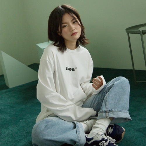[UNLIKELOOK] LIKES LONG SLEEVE TEE (IVORY)