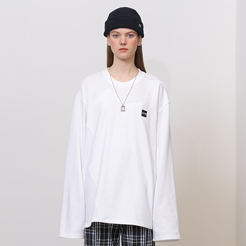 [OY] DOUBLE LAYERED T - WH