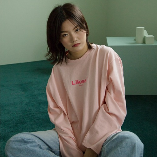 [UNLIKELOOK] LIKES LONG SLEEVE TEE (PINK)
