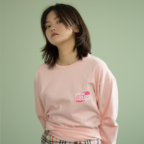 [UNLIKELOOK] L.C.H LONG SLEEVE TEE (PINK)