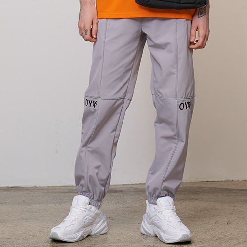 [OY] REFLECTIVE PIPING PANTS - GY