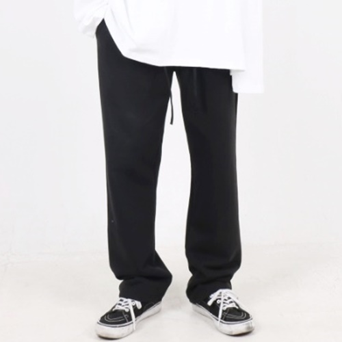 [Nar_Yoke] Overfit Wide Pants - Black
