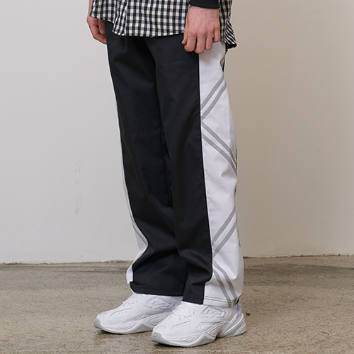 [OY] REFLECTIVE LINE PANTS - WH