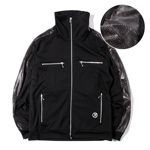 [KING] Python Track Jacket - Black