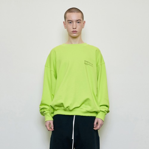 [D.PRIQUE] Oversized 'Visible' Sweatshirt Neon