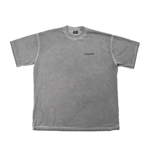Washed Tee (HAND MADE) - SILVER