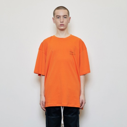 [D.PRIQUE] Oversized 'Visible' T-shirt Orange