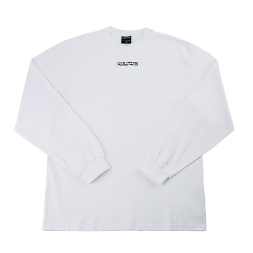 Inspired Point Long Sleeve Crew-Neck Tee - WHITE
