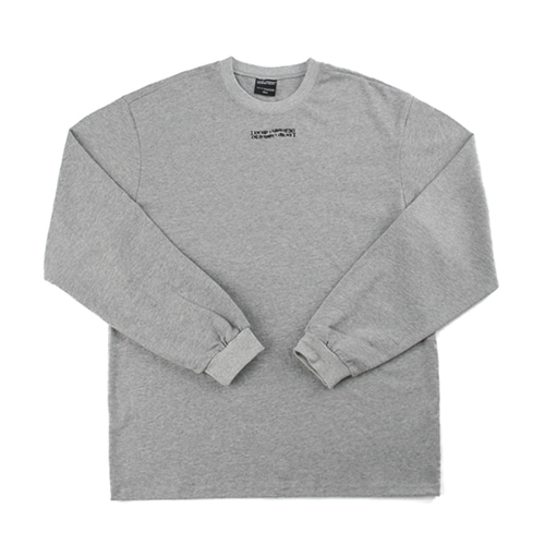 Inspired Point Long Sleeve Crew-Neck Tee - GREY