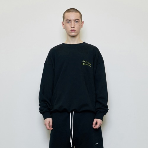 [D.PRIQUE] Oversized 'Visible' Sweatshirt Black