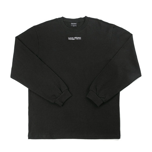 Inspired Point Long Sleeve Crew-Neck Tee - BLACK