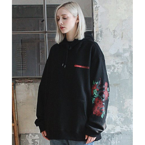 [compàgno]Snake painting LOGO HOODIE