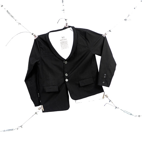 [XNADUWORKS] Shawl Collar Setup Jacket - Black
