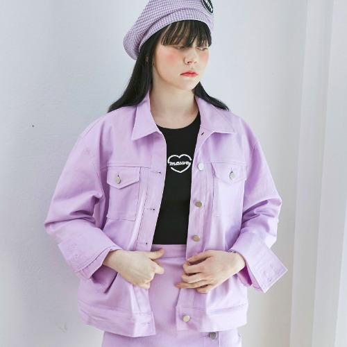 [MAUVE] COLOR DENIM JACKET (purple) [4/15 예약배송]