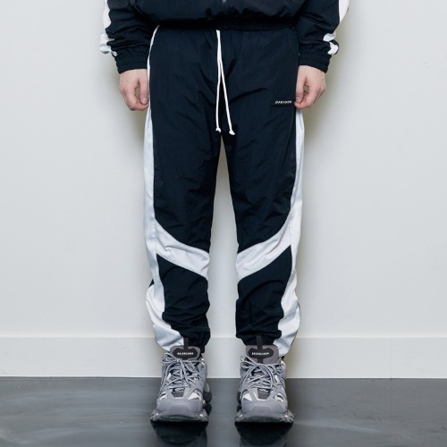 [D.PRIQUE] Contrast Track Pants Black/White